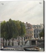 Paris Across the Seine Acrylic Print