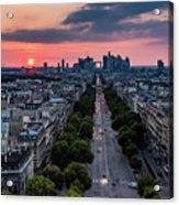 Paris, Avenue De La Grande Armee Acrylic Print