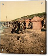 Trouville France Beach - The Good Old Days Acrylic Print