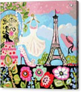 Paris Bistro Dress  Acrylic Print by Karen Fields