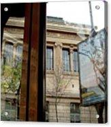 Paris Cafe Views Reflections Acrylic Print