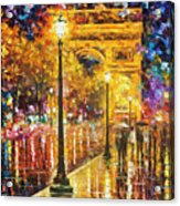 Paris - Campos Elises Acrylic Print