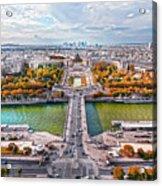 Paris City View 19 Art Acrylic Print