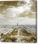 Paris City View 20 Sepia Acrylic Print