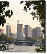 Paris Cityscape Across The Water Acrylic Print