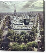 Paris Cityscape From Above, France Acrylic Print