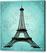 Paris Collage Acrylic Print