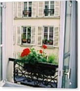 Paris Day Windowbox Acrylic Print