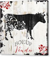 Paris Farm Sign Cow Acrylic Print