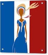 Paris Fashion Acrylic Print