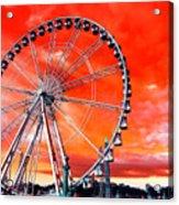Paris Ferris Wheel Pop Art 2012 Acrylic Print