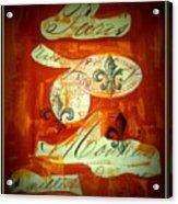 Paris Fleur De Li Acrylic Print
