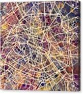 Paris France City Street Map Acrylic Print