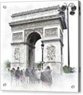 Paris, France  Triumphal Arch  Illustration Acrylic Print