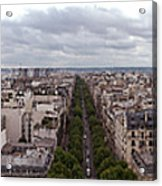 Paris From The Arch De Triumph Acrylic Print