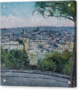 Paris From The Sacre Coeur Montmartre France 2016 Acrylic Print