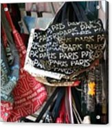Paris Handbags Assorted Colors  Acrylic Print