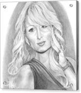 Paris Hilton Acrylic Print