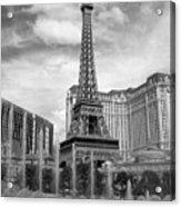 Paris Hotel - Las Vegas B-w Acrylic Print