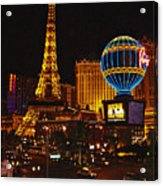 Paris In Las Vegas-nevada Acrylic Print
