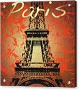 Paris In The Fall  Acrylic Print