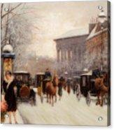 Paris In Winter Acrylic Print