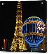 Paris Las Vegas Acrylic Print