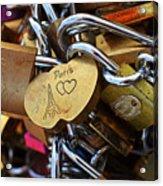 Paris Love Locks Paris France Color Acrylic Print