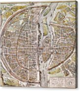 Paris Map, 1581 Acrylic Print