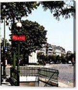 Paris Metro Acrylic Print