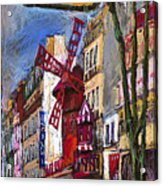 Paris Mulen Rouge Acrylic Print by Yuriy  Shevchuk