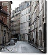 Paris Neighborhood Marais - No Right Turn 1 Acrylic Print
