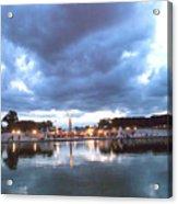 Paris Night Sky Acrylic Print by Milan Mirkovic