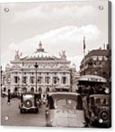 Paris Opera 1935 Sepia Acrylic Print