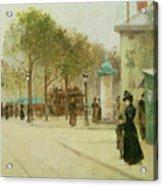 Paris Acrylic Print by Paul Cornoyer