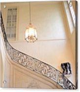 Paris Rodin Museum Staircase - Rod Iron Black Staircase Archictecture - Paris Museum Staircase Print Acrylic Print
