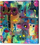 Paris Rush Hour Acrylic Print
