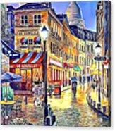 Paris Street Abstract 2 Acrylic Print