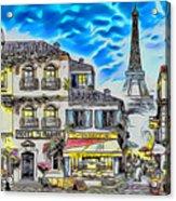 Paris Street Abstract 3 Acrylic Print