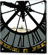 Paris Through The Clock Acrylic Print