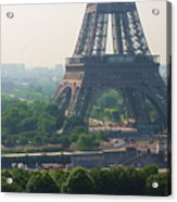 Paris Tour Eiffel 301 Pollution, Pollution Acrylic Print