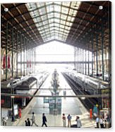 Paris Train Station Acrylic Print