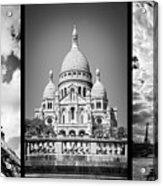 Paris Triptych Acrylic Print