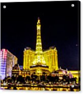Paris Vegas Acrylic Print