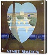 Paris Venice Railway, Orient Express Acrylic Print