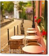 Parisian Cafe' Sunset Acrylic Print