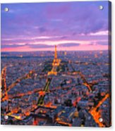 Parisian Nights Paris Acrylic Print