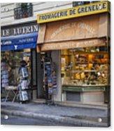 Parisian Shops Acrylic Print