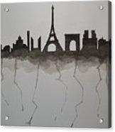 Parisian Skyline Silhouette Acrylic Print