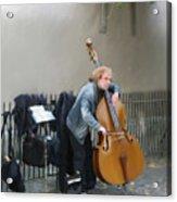 Parisian Street Musician Acrylic Print